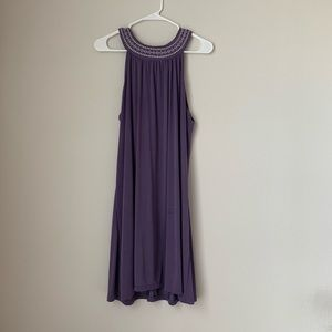 Purple Francesca's mini halter dress